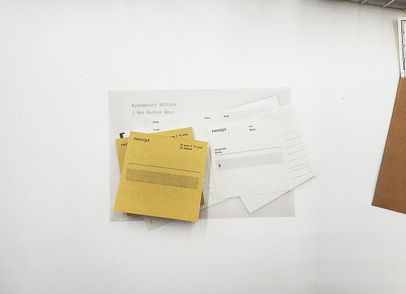 Classiky:  Drop Around Receipt Pad /05 (Eng)