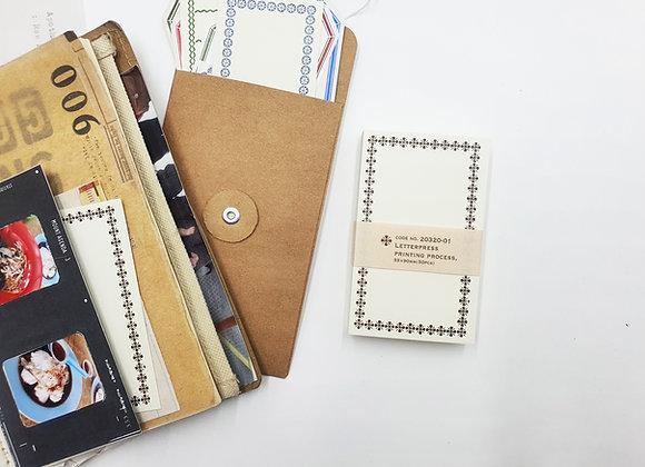 Classiky:  Letterpress Memo Card Brown