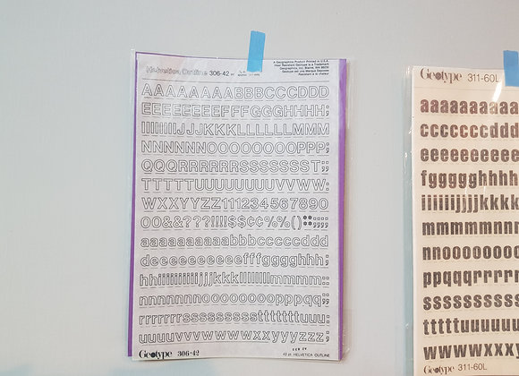 Rub on Alphabets 306-42pt