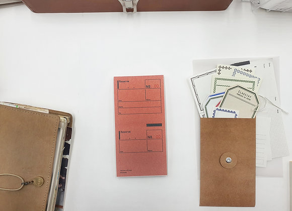 Classiky:  Drop Around Reserve Note Pad (Eng)