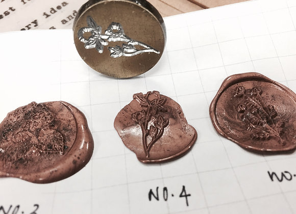 No.4 Floral seal : Mini handle