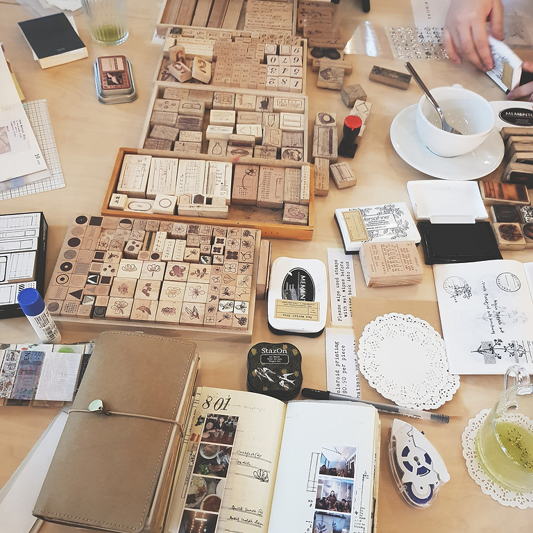 Stamp gathering: Journal over tea & coffee