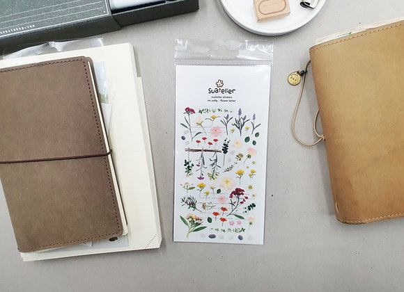 Suatelier Flower Letter Sticker