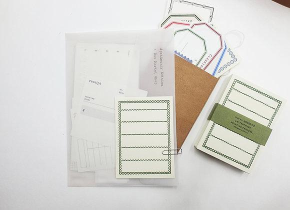 Classiky:  Letterpress Memo CardGreen