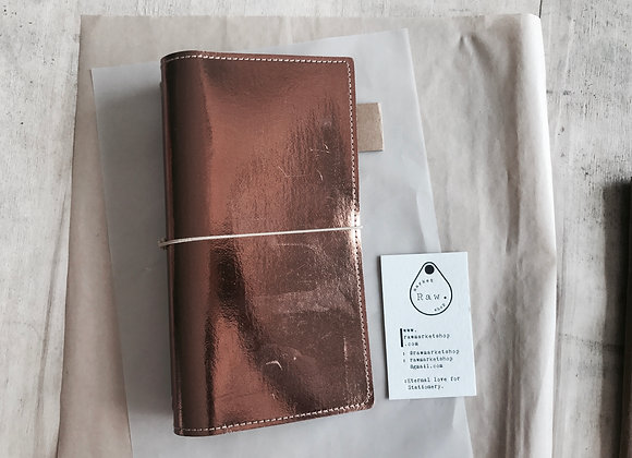 Kraft Tex Raw Note: Rose Gold.