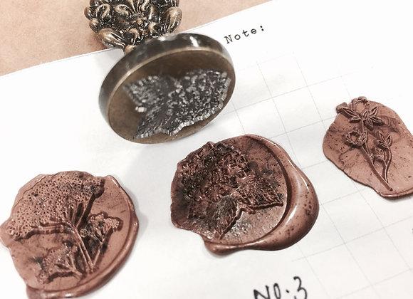 No.3 Floral seal : Mini handle