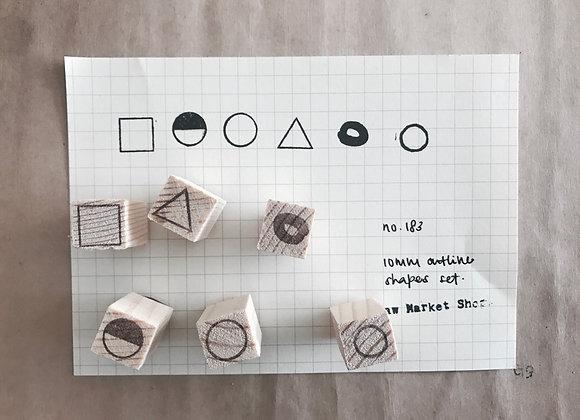 no. 183 | 10mm shapes set (outline)