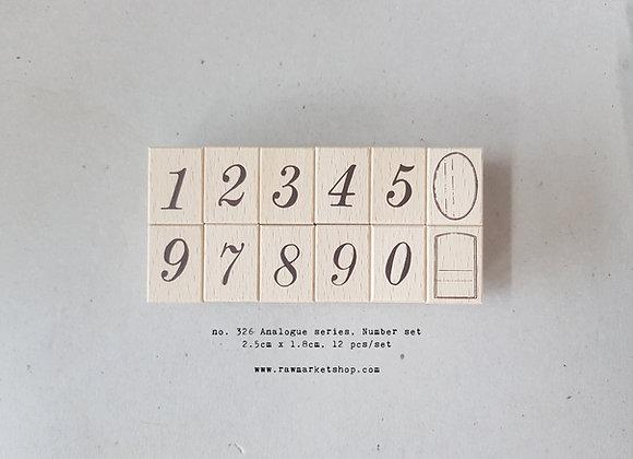 no. 326 Big number set