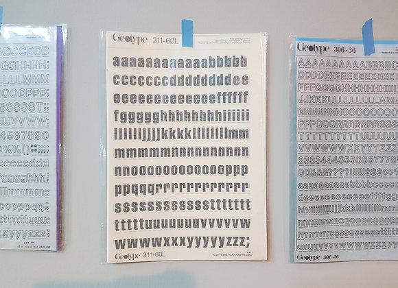 Rub on Alphabets 311-60L (60pt)