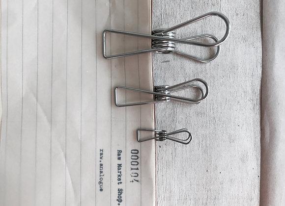 Wire Clip : Silver.