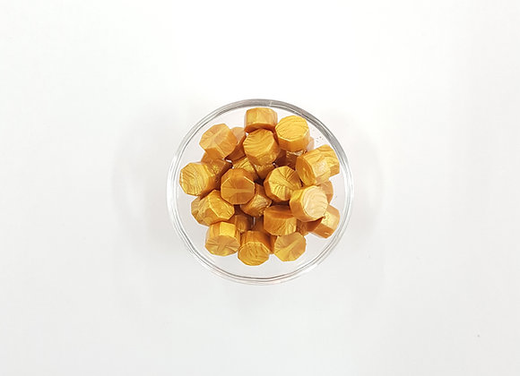Wax beads : Gold