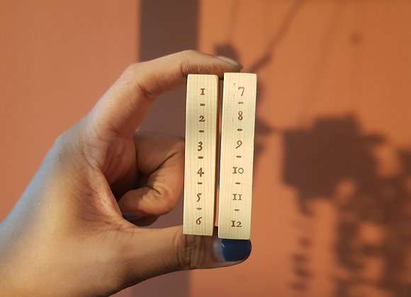 no.336 vertical numbers set