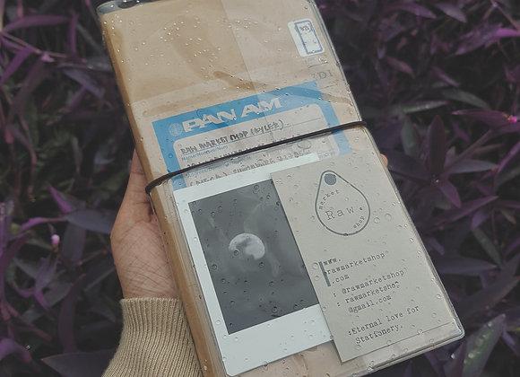 Raw Note: Raincoat cover + kraft folder