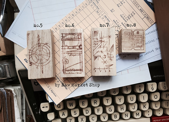 No.5 - No.8 Rubber stamp