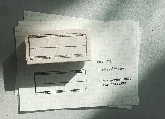 no. 200 :border/frame
