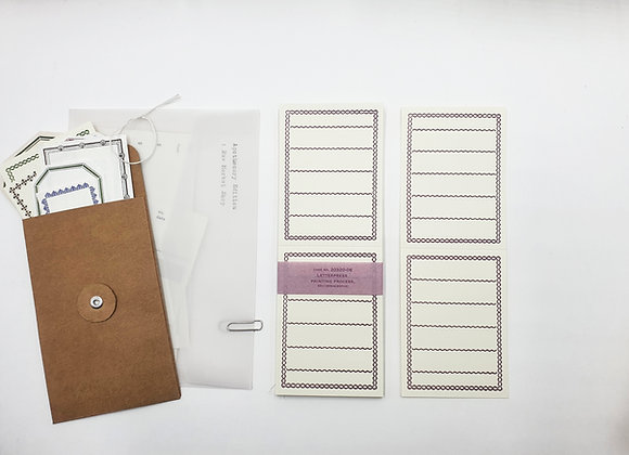 Classiky:  Letterpress Folded Memo Card Deep Purple(20 pcs)
