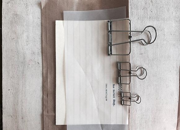Binder Clip : Silver.