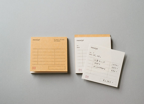 Classiky:  Drop Around Receipt Pad /04 (Eng)