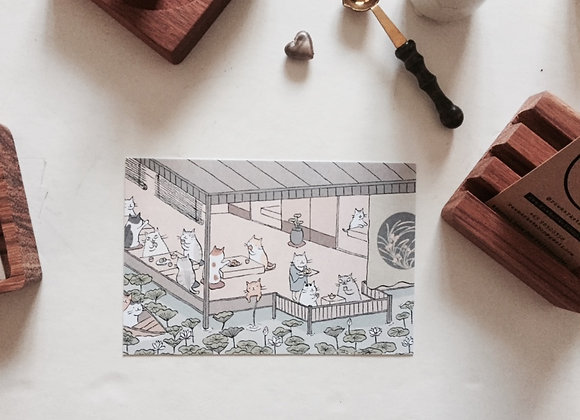 Cat / pond restaurant