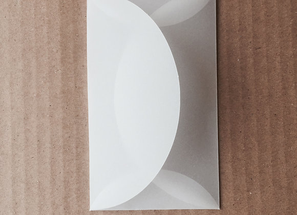 Card size Transparent envelopes