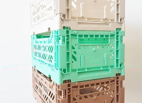 Aykasa Storage Set of 3: Light grey, Mint, Taupe