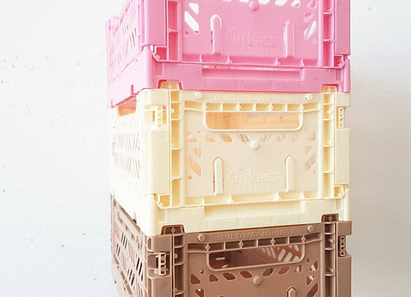 Aykasa Storage Set of 3: ICE CREAM! Pink, Cream & Taupe