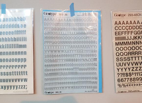 Rub on Alphabets 306-36 (36pt)