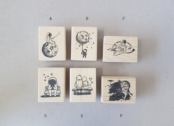 Astronaut boy Rubber Stamps by MyPaperProjects