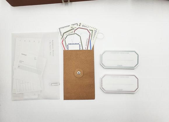 Classiky:  Letterpress Label Card Red/Green(40 pcs)