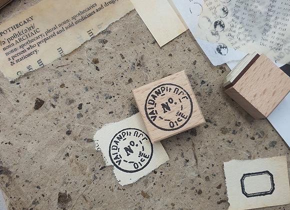 No.349 Round no. Stamp