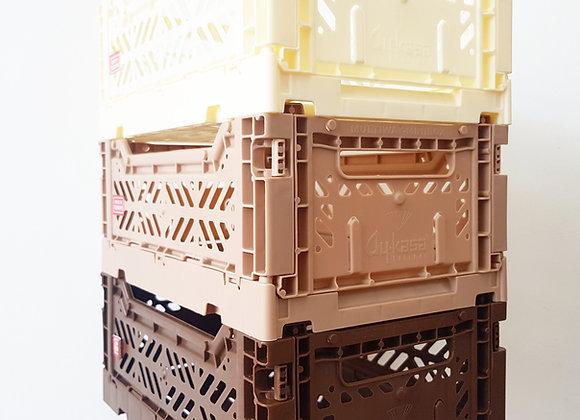 Aykasa Storage Set of 3: Cream, Taupe, Brown