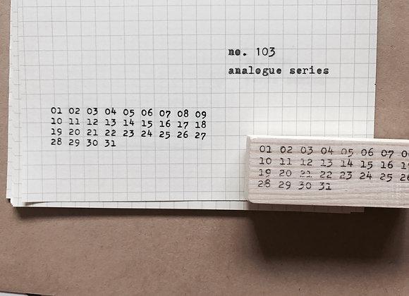 no.103 Analogue Series