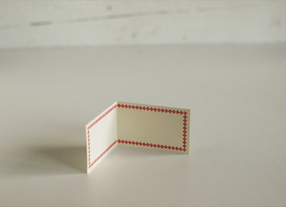 Classiky:  Letterpress Folded Memo Card Red (20 pcs)