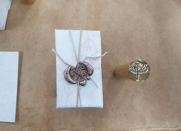 (301-2) Floral wax seal