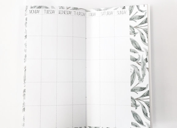 Printed monthly calendar