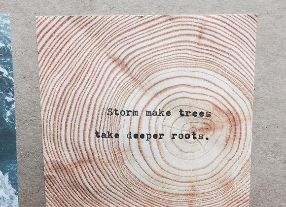 Wood Grain Post It