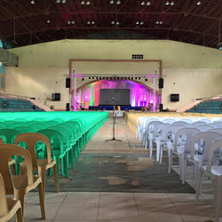 36th AGMA of LEYECO II _ LNHS Gym. Preparing for D day