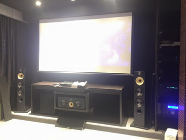 B&W 600 Series Home Theater Set-up Photo of Sound and Vision