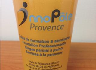 InnoPôle Provence : un gobelet personnalisé pour accompagner des stages de sensibilisation à la Sécu