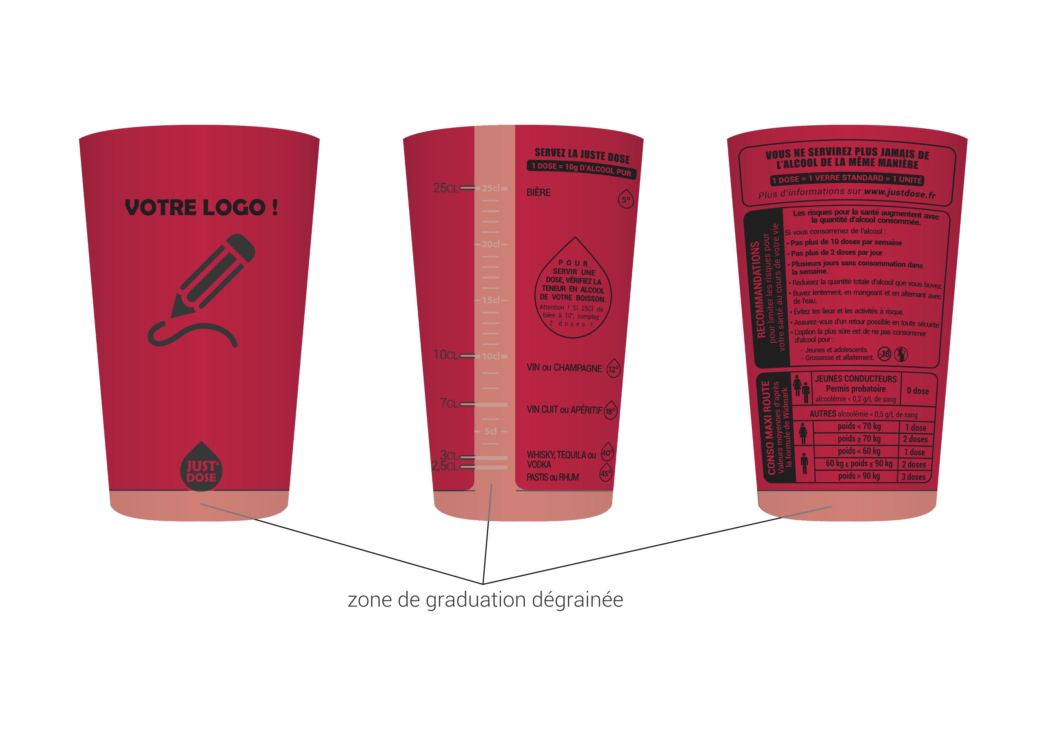 gobelet personnalisable justdose rouge