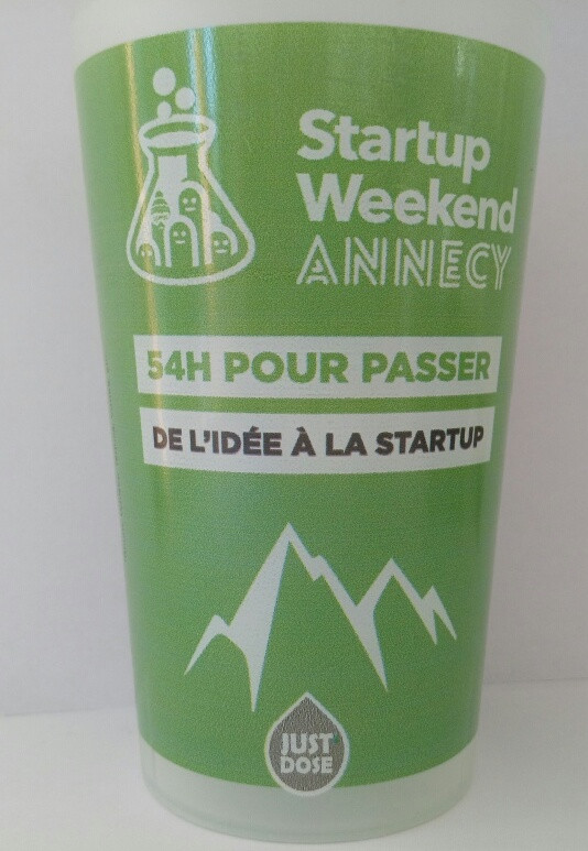 GOBELET JUST'DOSE AU START UP WEEK END D'ANNECY