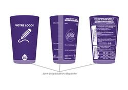 gobelet personnalisable justdose violet.