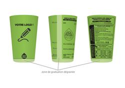 gobelet personnalisable justdose vert cl