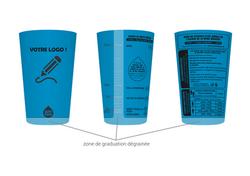 gobelet personnalisable justdose bleu cl