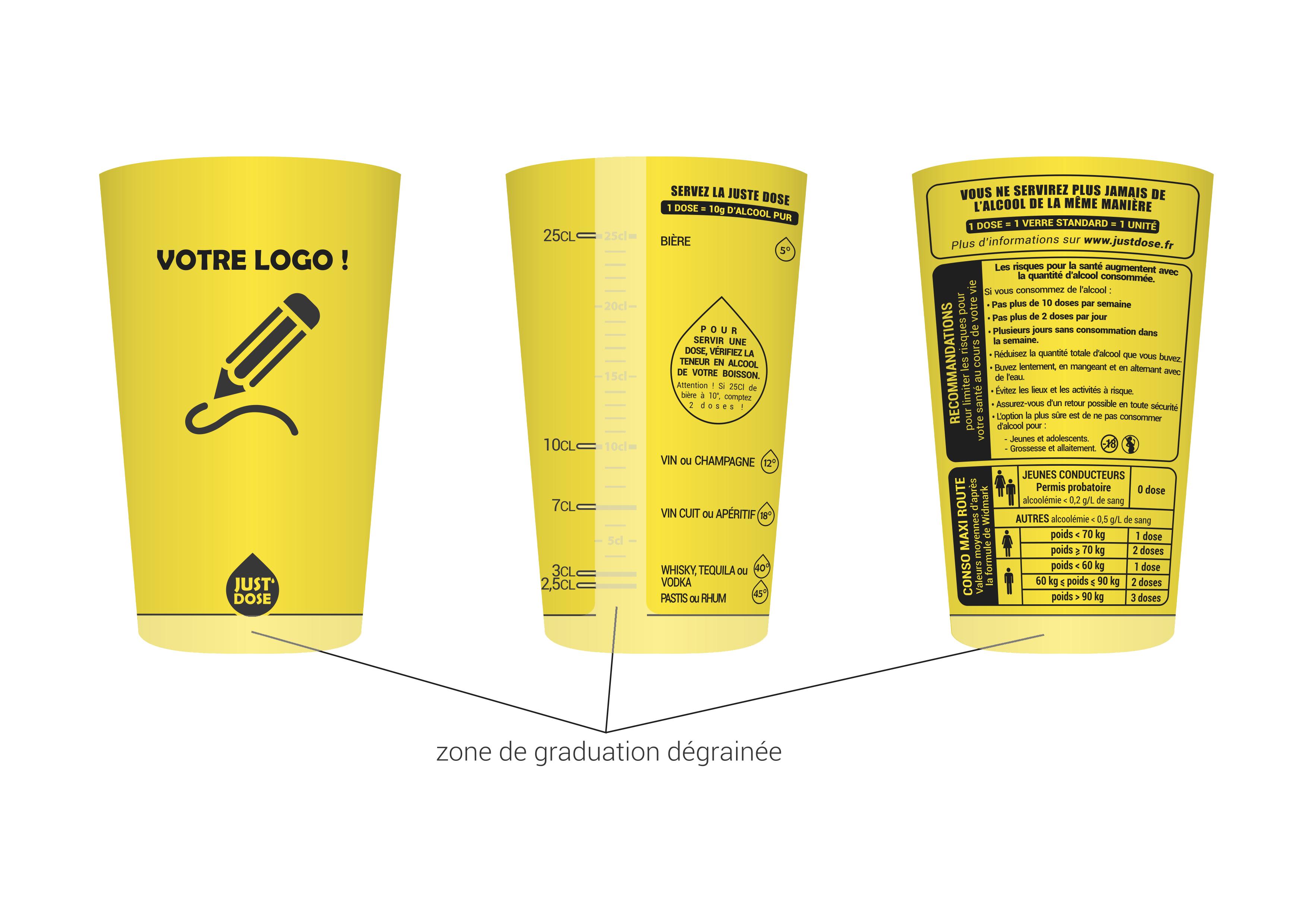 gobelet personnalisable justdose jaune