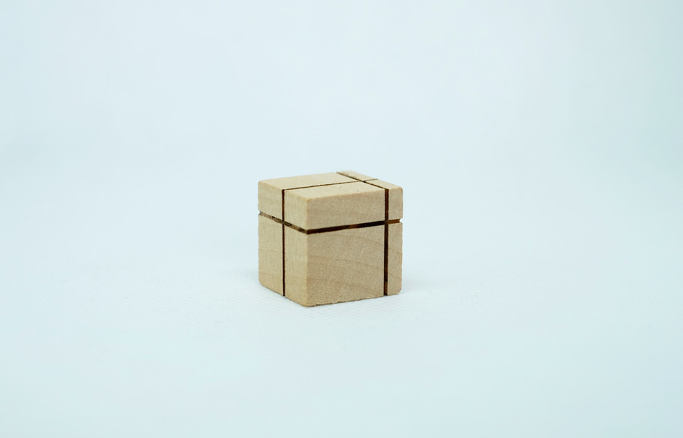 wooden dice single