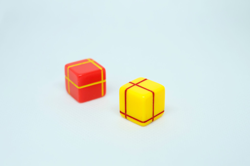 red/yellow paired dice