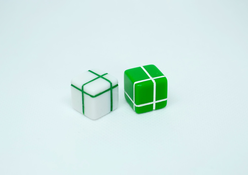 White/green paired dice