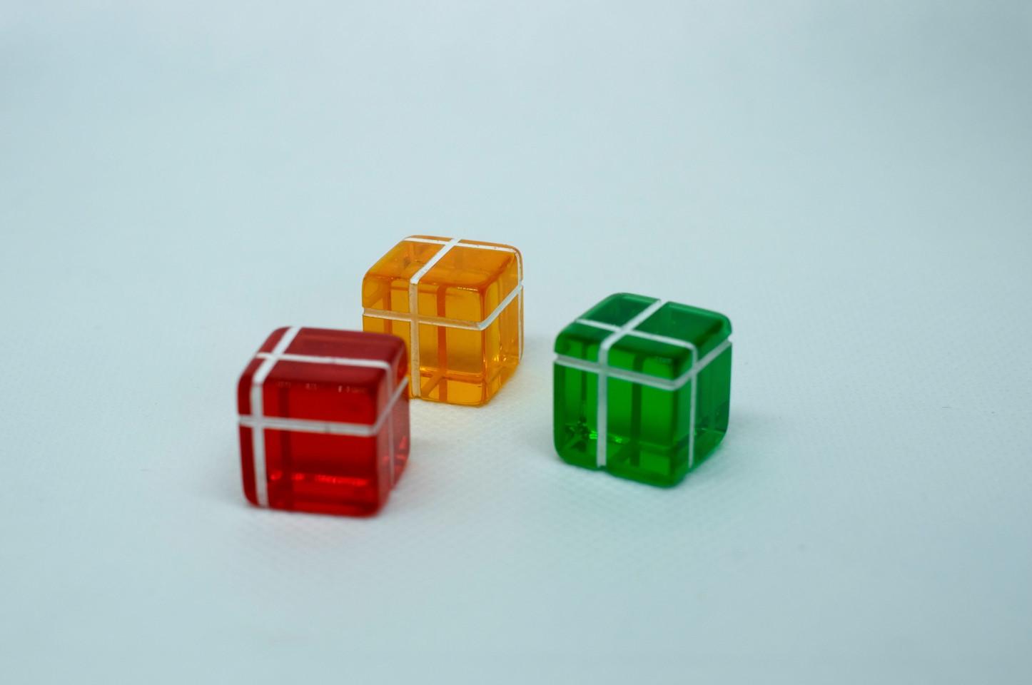 transparent dice