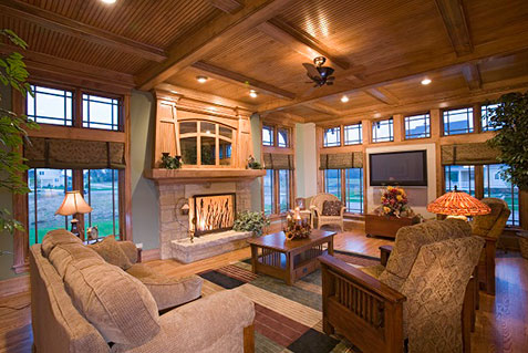 Rustic living room beauty